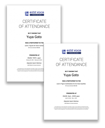 yuya-certificates